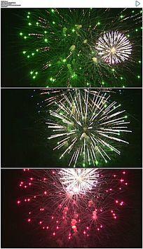 夜空中的彩色烟花动态视频素材