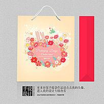 婴童用品店礼品包装袋设计素材