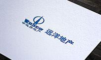 蓝色大气房地产LOGO标志