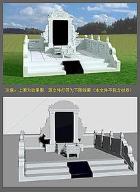 3D墓碑模型 max