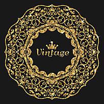包装炫丽金色花纹图案