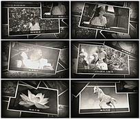 回忆过去旧照片风格相册AE模板
