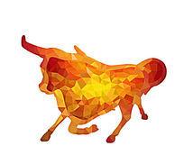 十二生肖牛造型插画