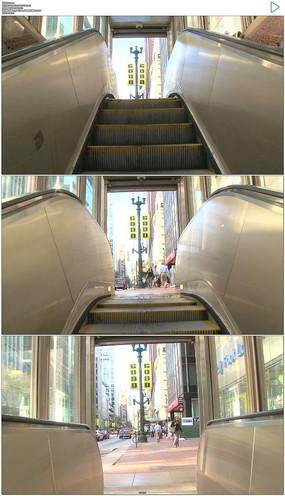地下商场电梯上行实拍视频素材