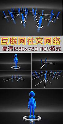 互联网大数据社交网络CG视频