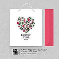 婚礼婚庆公司心形手提袋设计素材