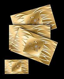 金色线条纹理卡片设计