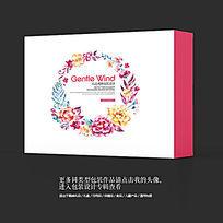 工艺品艺术品唯美花卉包装设计