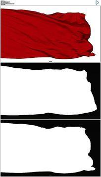 红旗飘动视频素材 mov