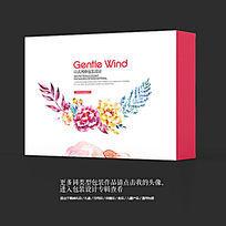 民族特色工艺品花卉包装设计