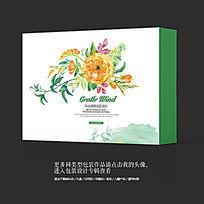 水墨民族特色艺术品包装礼盒设计