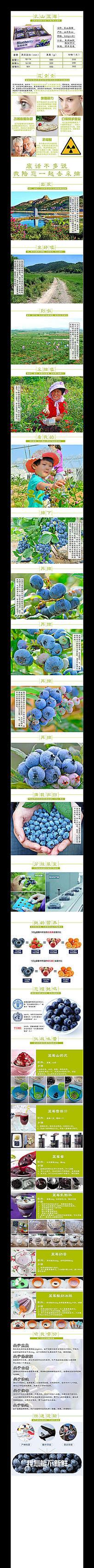 淘宝天猫水果蓝莓详情描述模板