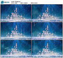 唯美粒子云海迪士尼城堡视频