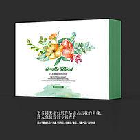 中国风日用品水墨花卉包装设计