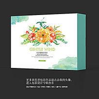 中国风水墨花卉美食食品高档礼盒包装设计