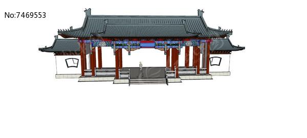 中式古建筑大门图片