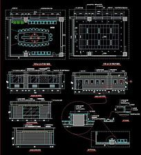 70平米会议室装修CAD施工详图