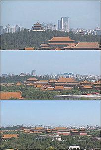 北京景山公园远眺故宫实拍高清视频