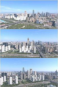 北京商务中心中央台航拍实拍高清视频