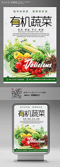 时尚有机蔬菜宣传海报