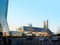 现代特色建筑效果图