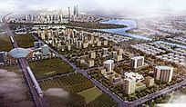 现代住宅城市规划全景