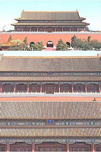 紫禁城故宫端门午门特写实拍高清视频