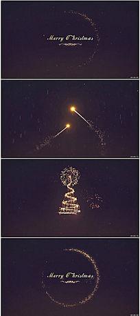 圣诞节新年晚会开场片头视频