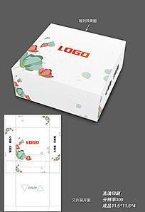 时尚小清新纸巾包装盒 CDR