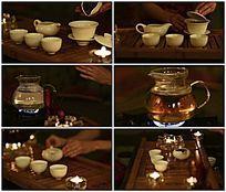 中国茶文化茶艺老外品茶视频