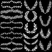 徽章花边边框装饰素材 EPS