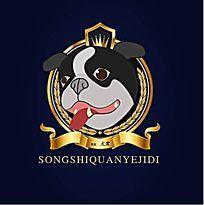 大型犬养殖业形象logo