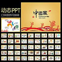 端午节龙图案PPT设计模板