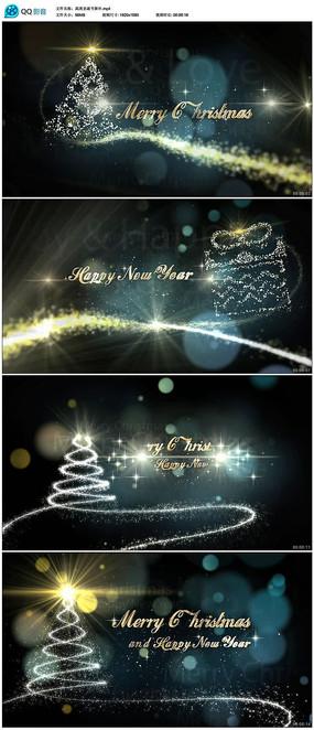 高清圣诞节新年视频背景