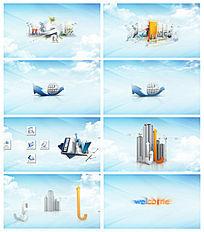 公司企业商务开场视频片头素材AE模板