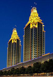 景观亮化建筑照明楼体亮化塔楼照明设计fla动画