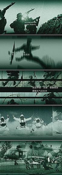 军队武警宣传片ae模板