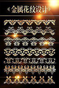 欧式花纹边框花边设计