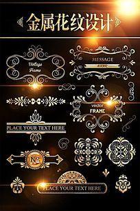 欧式花纹边框图案设计