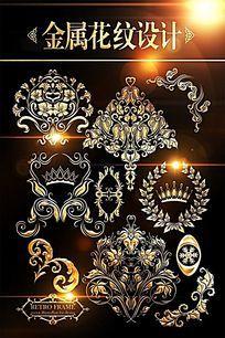 欧式金属花纹边框麦穗设计