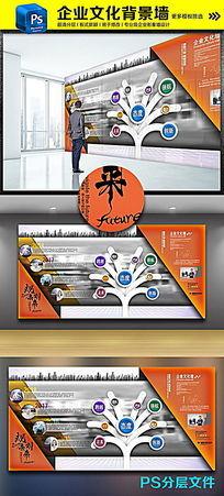 最新创意立体企业文化背景墙