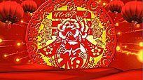 春节喜庆元素晚会视频素材