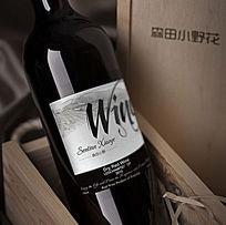 古典欧式红酒瓶贴 AI