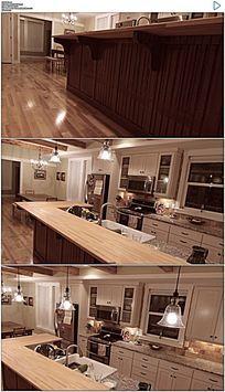 家居装修厨房内景实拍视频素材