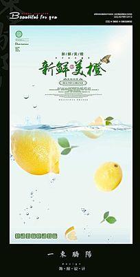简约新鲜橙子宣传海报设计PSD