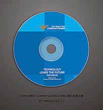 精品蓝色光盘贴纸设计 CDR