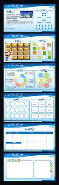 蓝色科技企业文化宣传展板