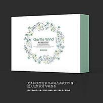森系风小清新日用品高档包装盒设计