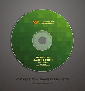时尚绿色块光盘封面设计 CDR