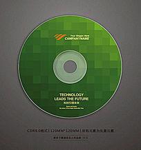 时尚绿色块光盘封面设计